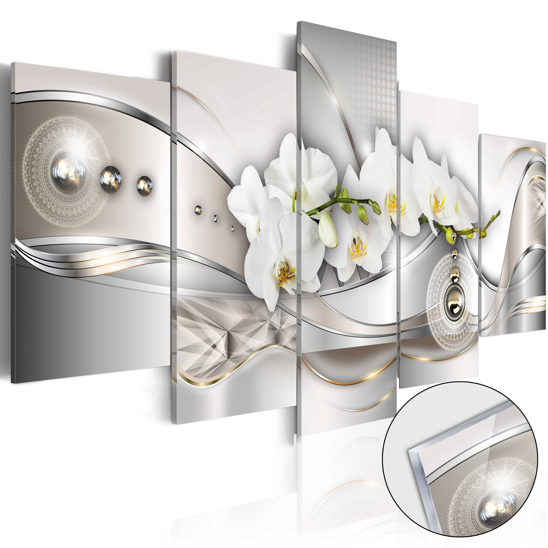 acrylglasbild modern wandbild glasbilder blumen orchidee. Black Bedroom Furniture Sets. Home Design Ideas