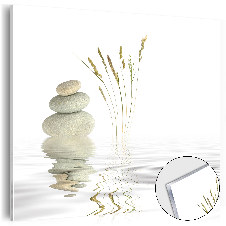 Neu acrylglasbilder bild deko glas glasbild steine wasser for Glas deko bilder