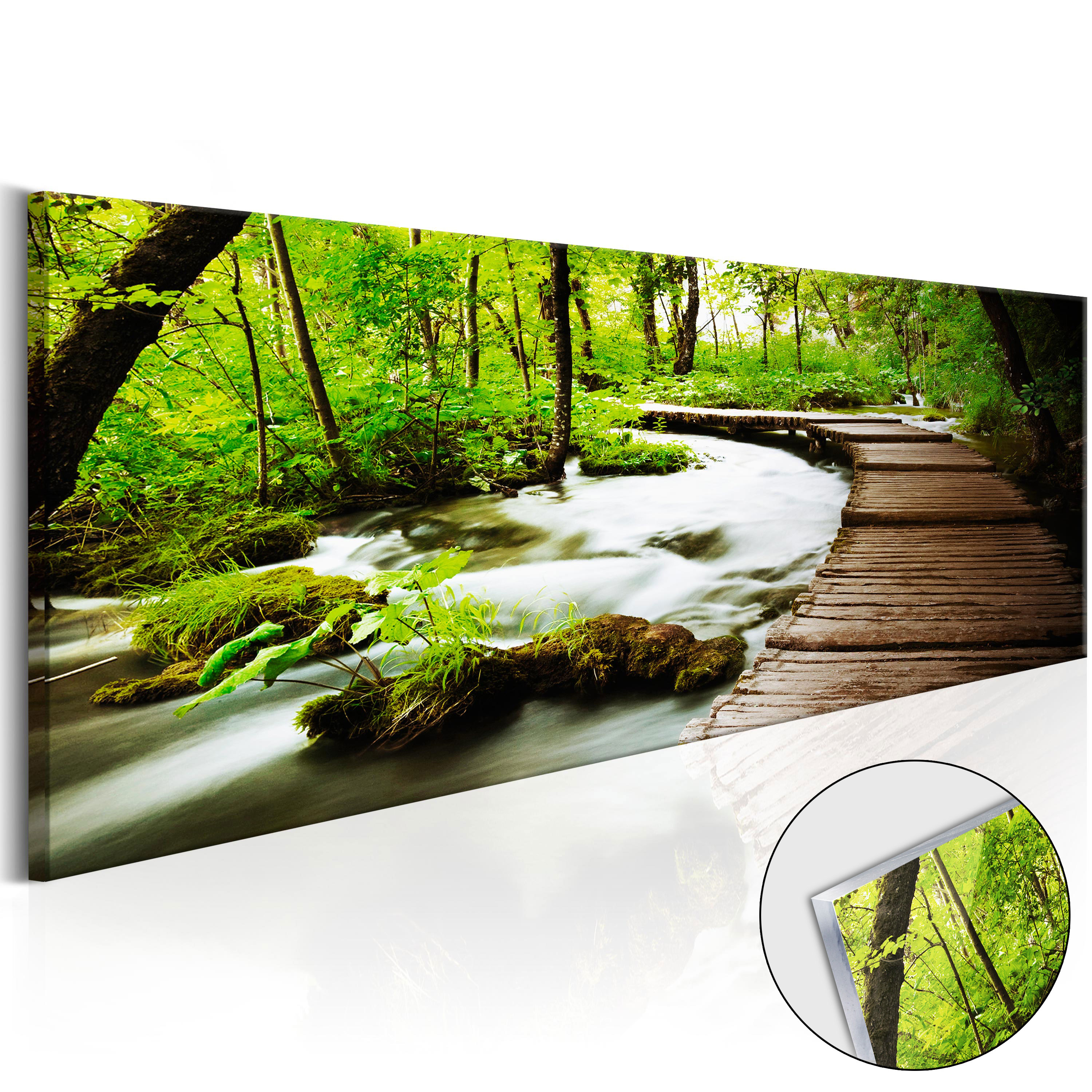 acrylglasbild wandbild kunstdruck glasbilder natur wald bach fluss c b 0161 k a ebay. Black Bedroom Furniture Sets. Home Design Ideas