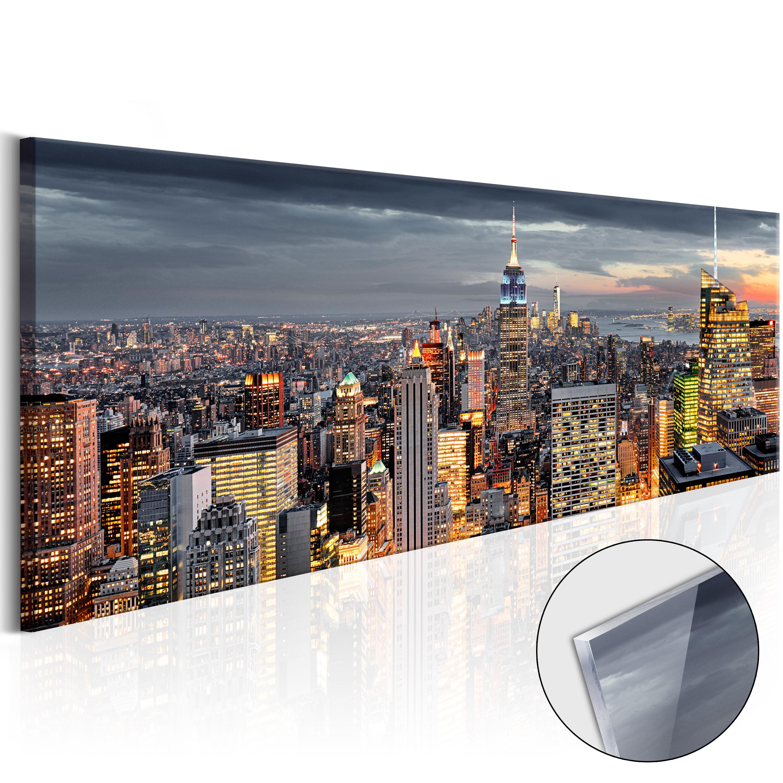 acrylglasbild wandbild glasbilder bilder stadt nach new york d b 0068 k b ebay. Black Bedroom Furniture Sets. Home Design Ideas
