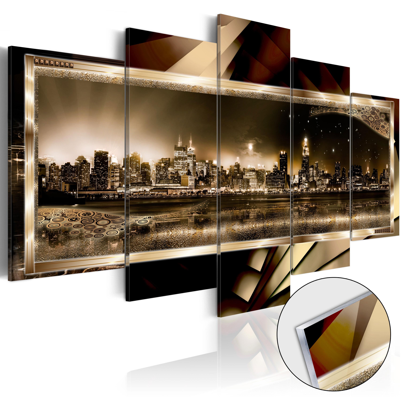acrylglasbild modern wandbild glasbilder bild new york stadt nacht d c 0016 k n ebay. Black Bedroom Furniture Sets. Home Design Ideas