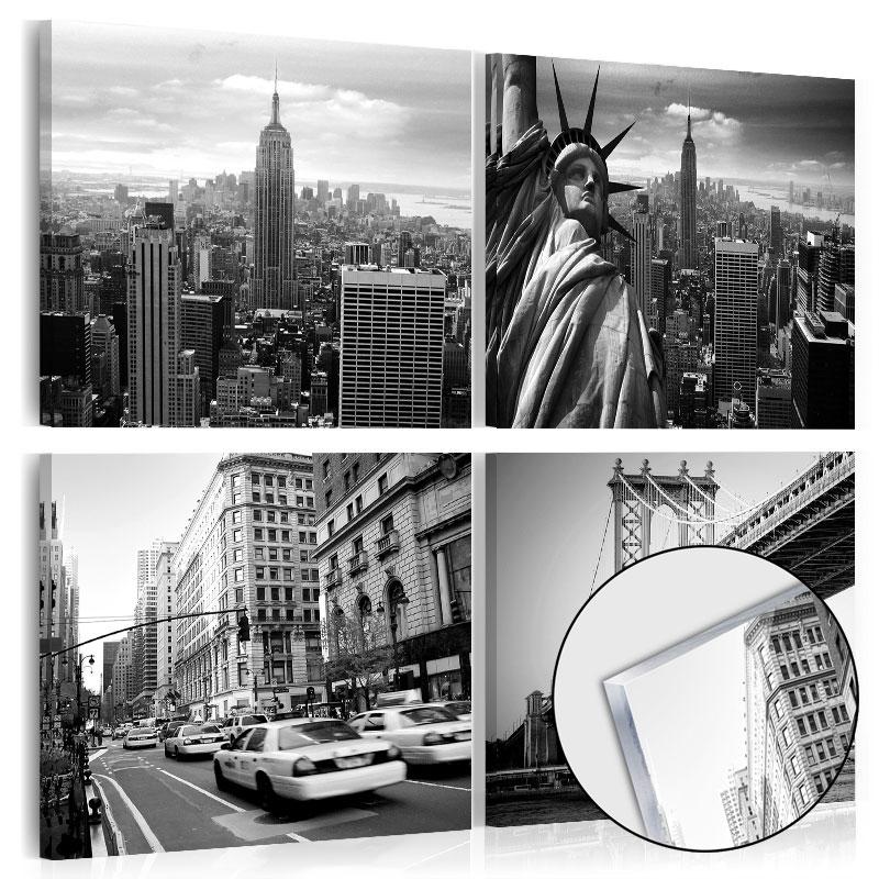 neu acrylglasbilder bild acryl glasbild new york city stadt d c 0029 k i ebay. Black Bedroom Furniture Sets. Home Design Ideas