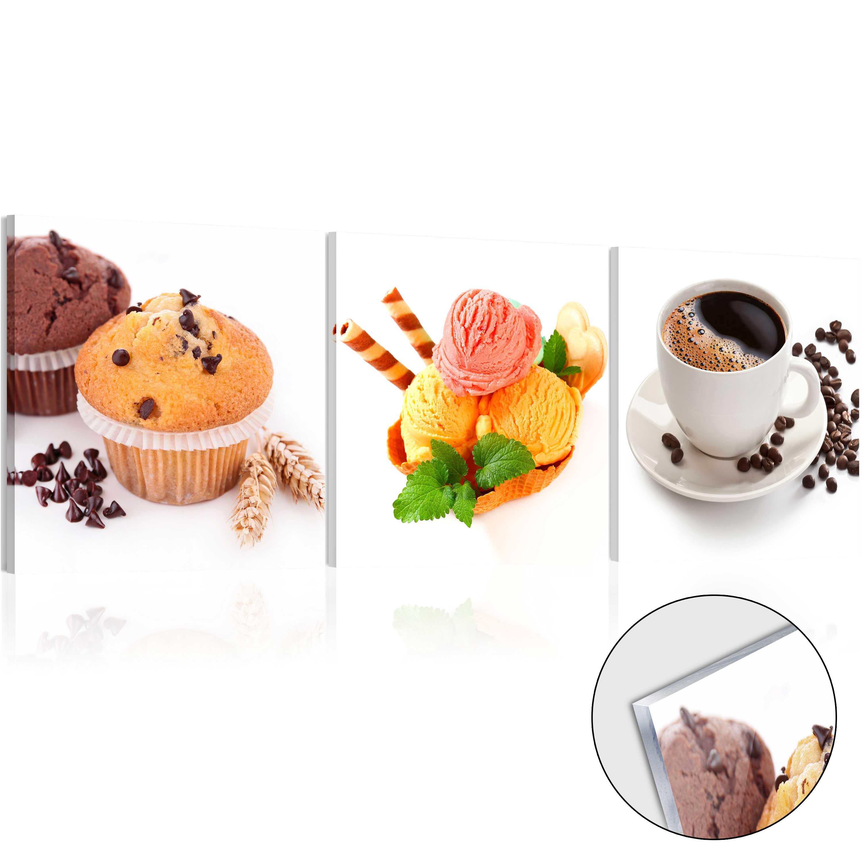 Neu acrylglasbilder bild acryl glasbild eis k che kaffee for Acrylglasbilder kuche
