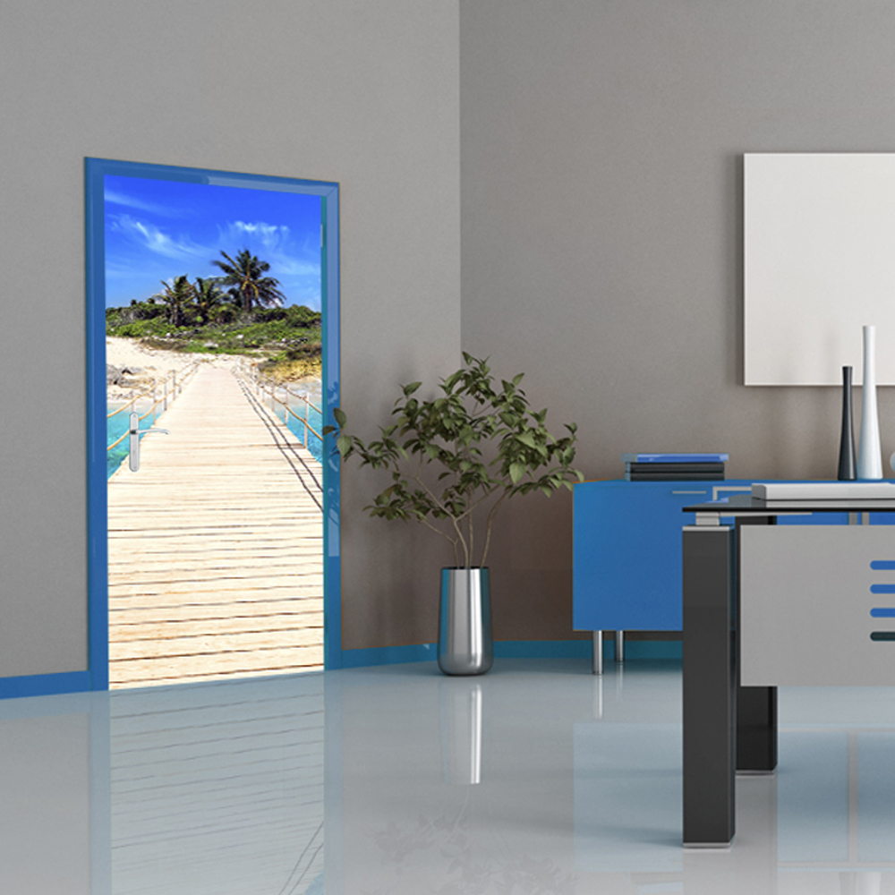 Door wallpaper poster mural 100x210 cm home decoration 30 for Door mural wallpaper
