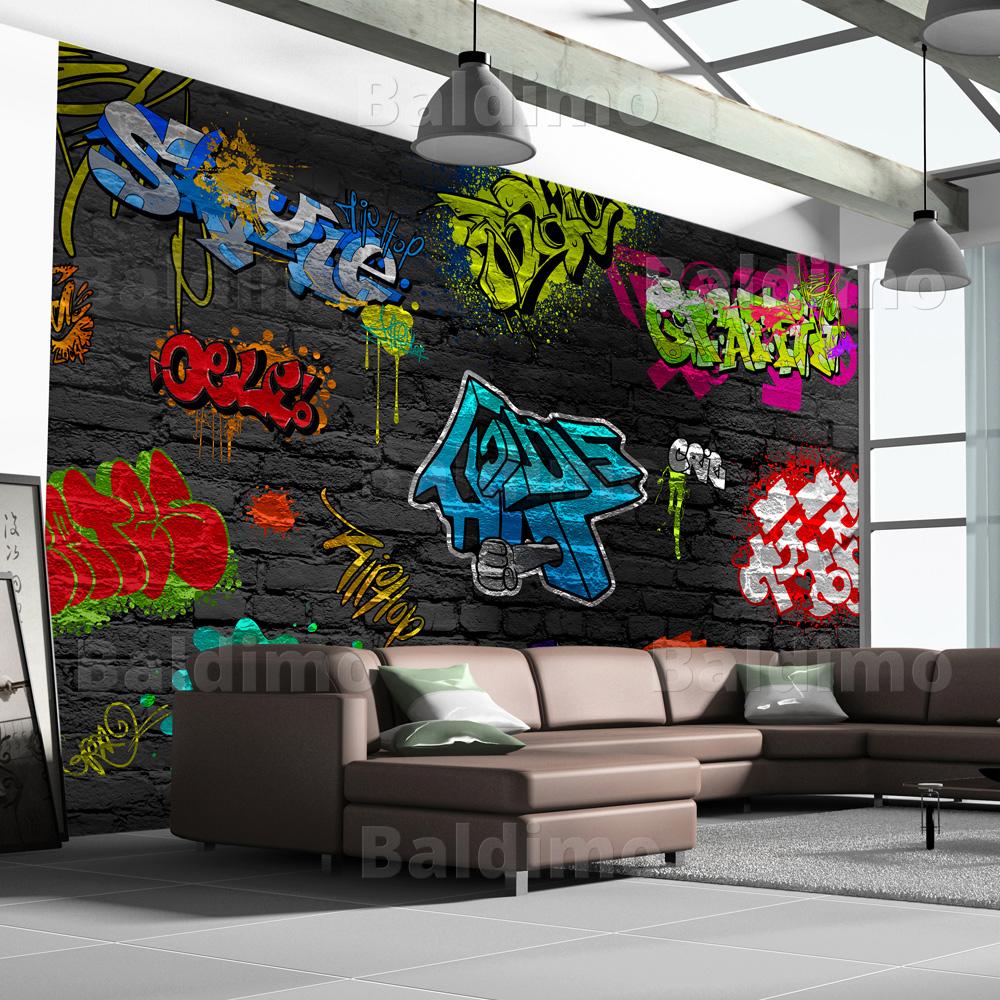 vlies fototapete tapeten xxl wandbilder tapete graffiti. Black Bedroom Furniture Sets. Home Design Ideas