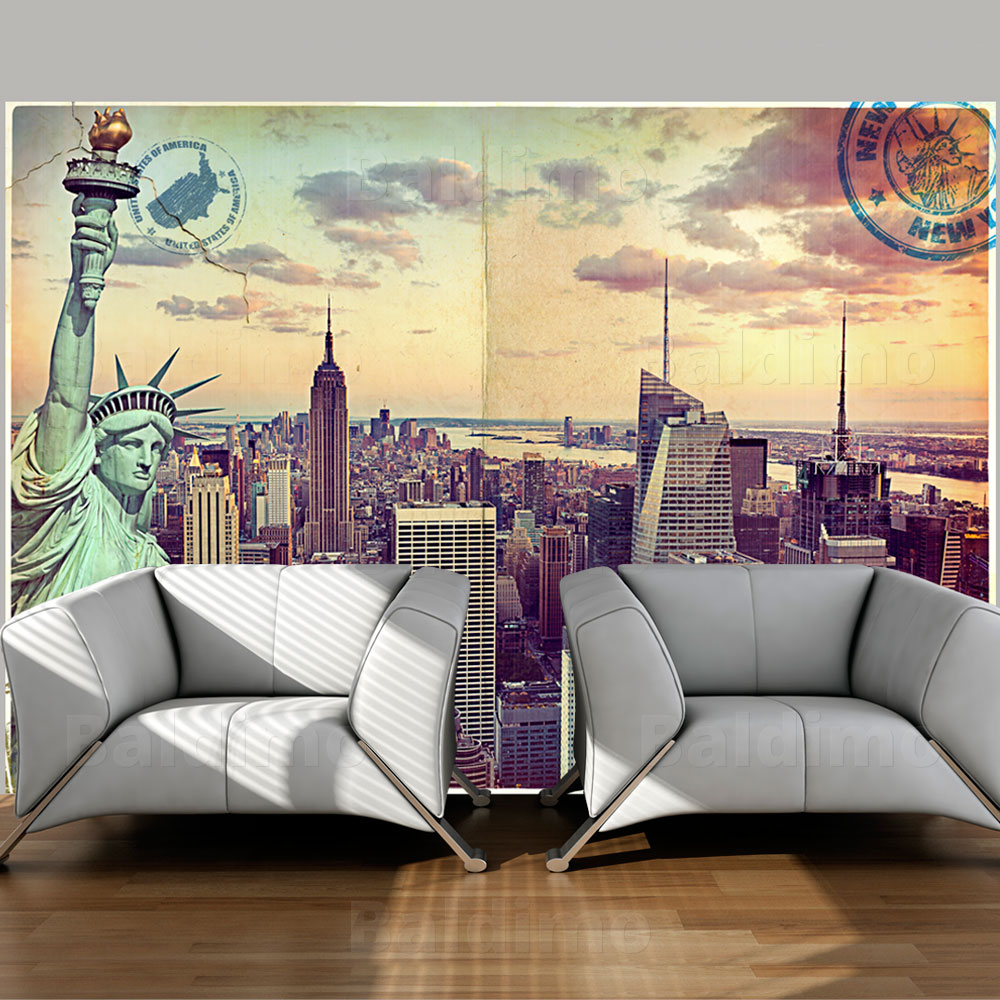 vlies fototapete tapeten xxl wandbilder tapete new york 10110904 22 ebay. Black Bedroom Furniture Sets. Home Design Ideas
