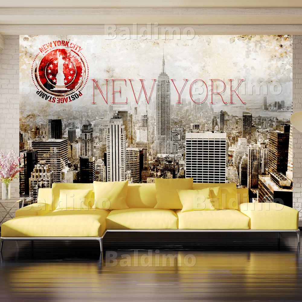 vlies fototapete 3 farben zur auswahl tapeten new york 10110904 57 ebay. Black Bedroom Furniture Sets. Home Design Ideas
