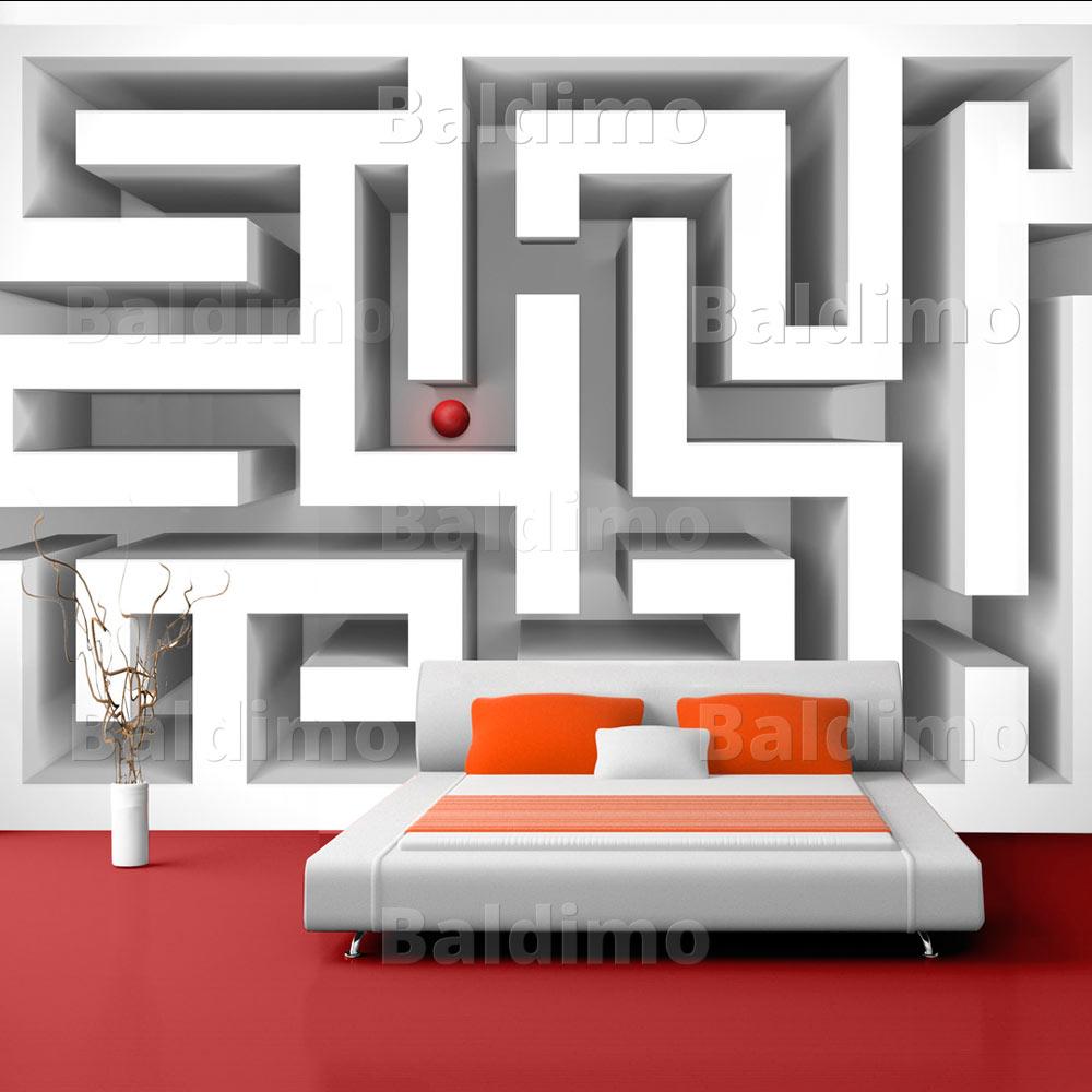 vlies fototapete 3 farben zur auswahl tapeten abstrakt 3d 10110905. Black Bedroom Furniture Sets. Home Design Ideas