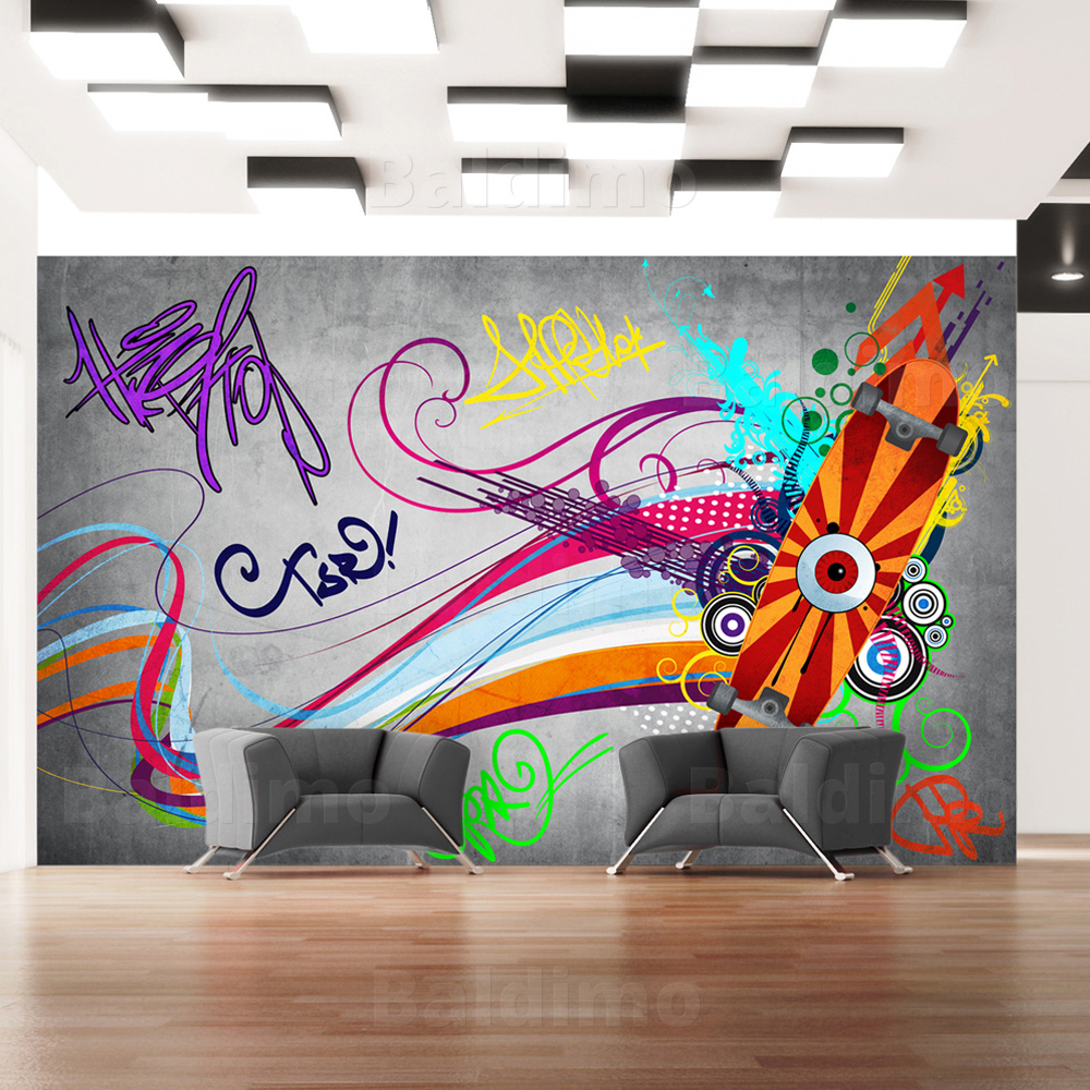 photos bild galeria graffiti tapete. Black Bedroom Furniture Sets. Home Design Ideas