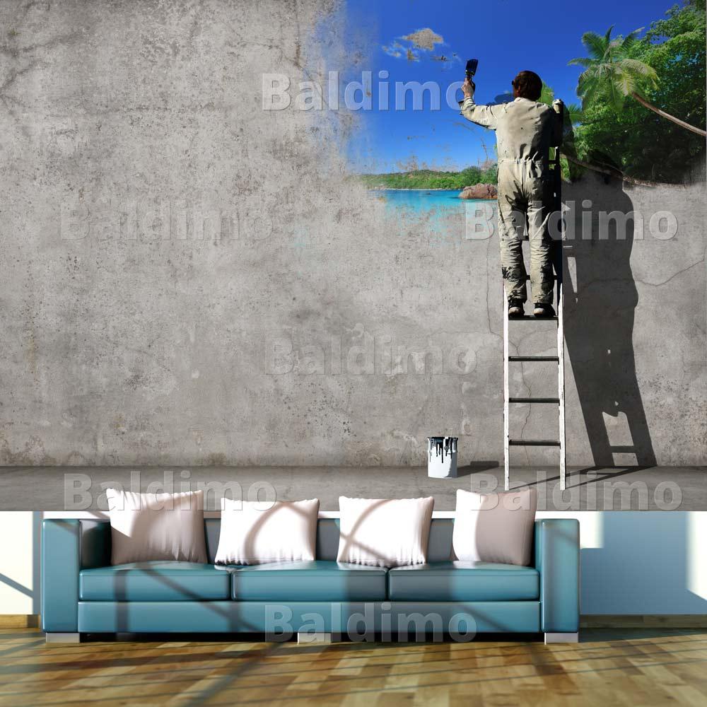 Vlies fototapete tapeten xxl wandbilder tapete banksy - Tapeten xxl ...