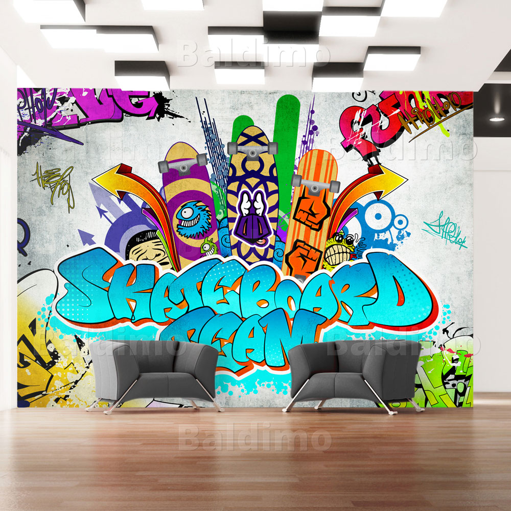 vlies fototapete tapeten xxl wandbilder tapete graffiti 10110905 46 ebay. Black Bedroom Furniture Sets. Home Design Ideas
