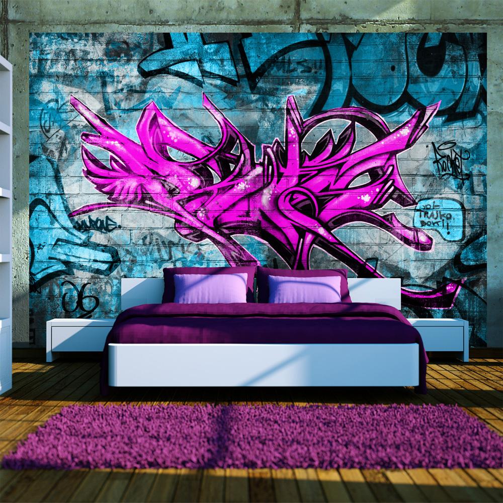 Vlies fototapete kinderzimmer jugendzimmer vlies tapete graffiti 10110905 4 ebay - Graffiti tapete jugendzimmer ...