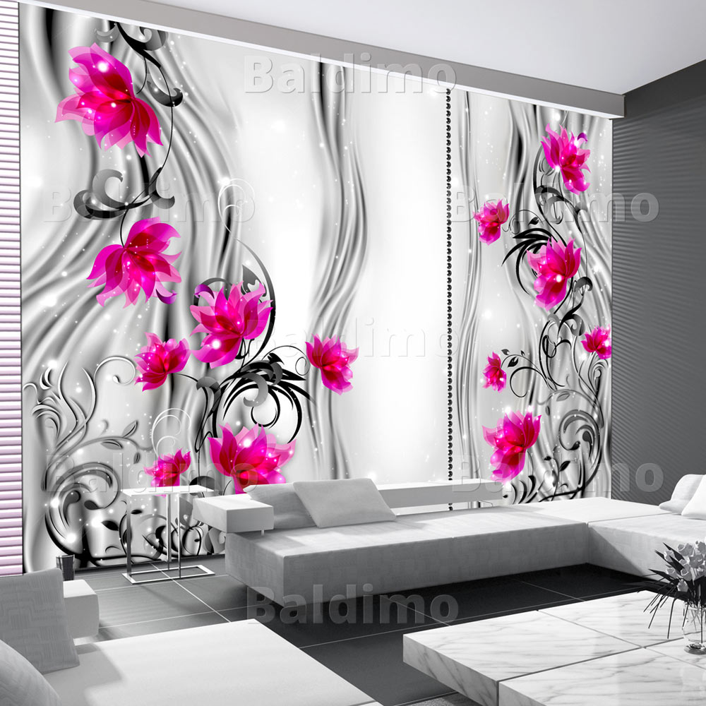 vlies fototapete 3 farben zur auswahl tapeten blumen 10110906 137 ebay. Black Bedroom Furniture Sets. Home Design Ideas