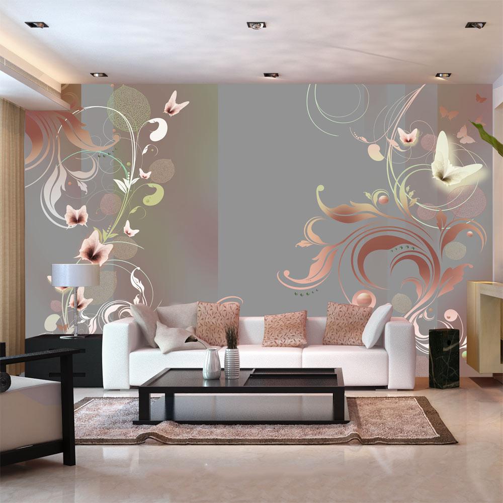 fototapete ornamente rose abstrakt vlies tapete wandbilder xxl 10110906 13 ebay. Black Bedroom Furniture Sets. Home Design Ideas