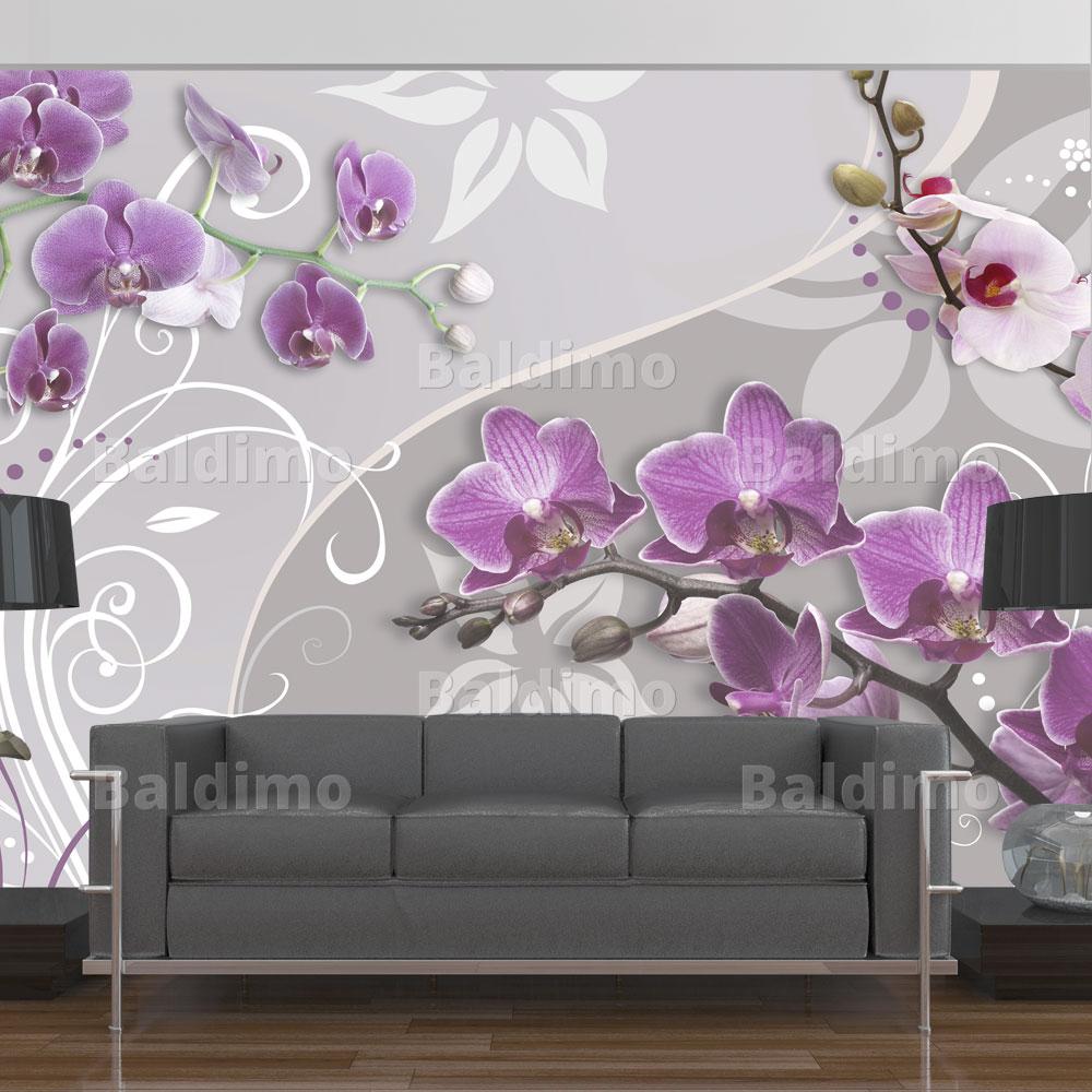 vlies fototapete 3 farben zur auswahl tapeten blumen 10110906 31 ebay. Black Bedroom Furniture Sets. Home Design Ideas