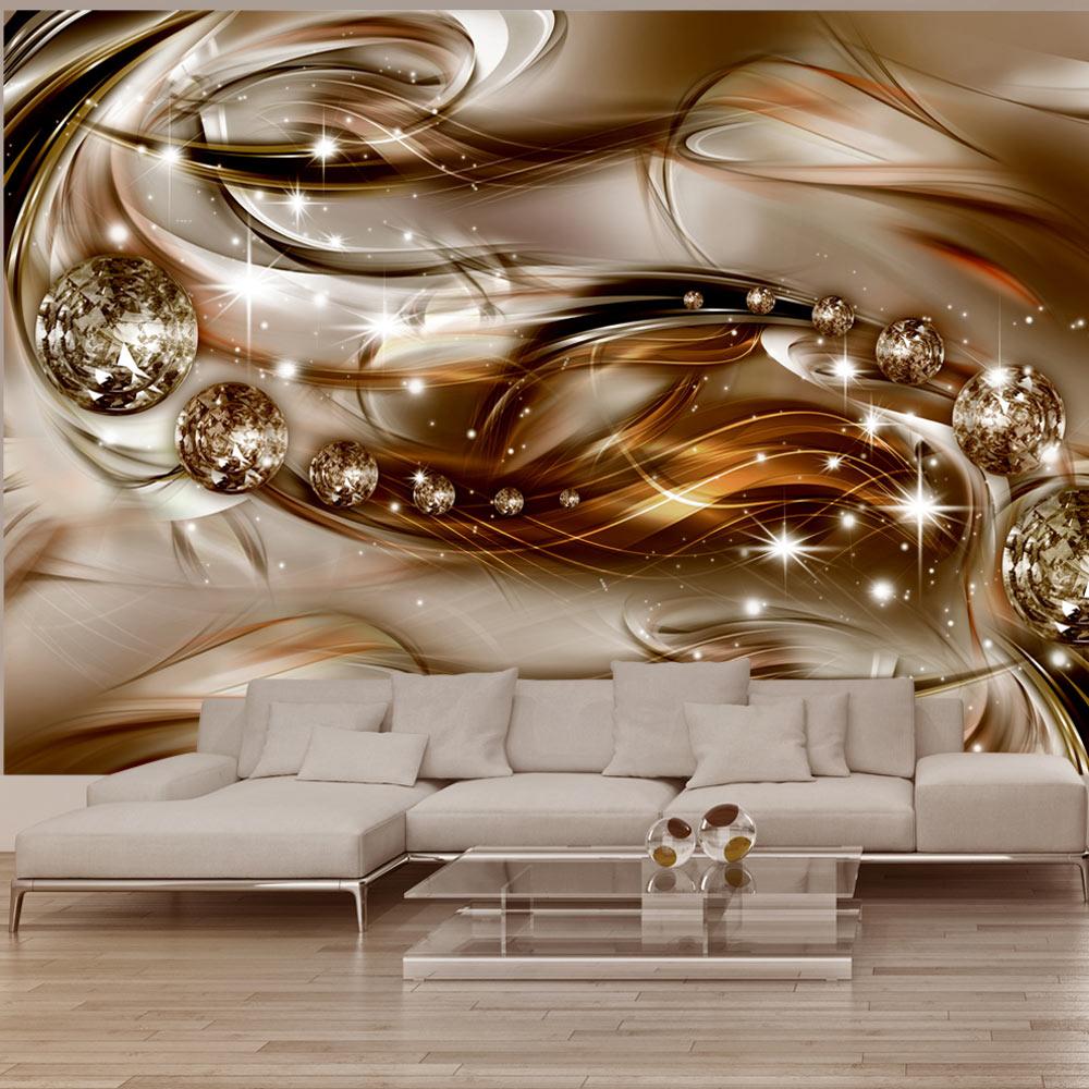 Wandgestaltung Mit Tapeten Bilder : FOTOTAPETE-3-Farben-zur-Auswahl-TAPETEN-ABSTRAKT-DIAMANT-a-A-0168-a-b