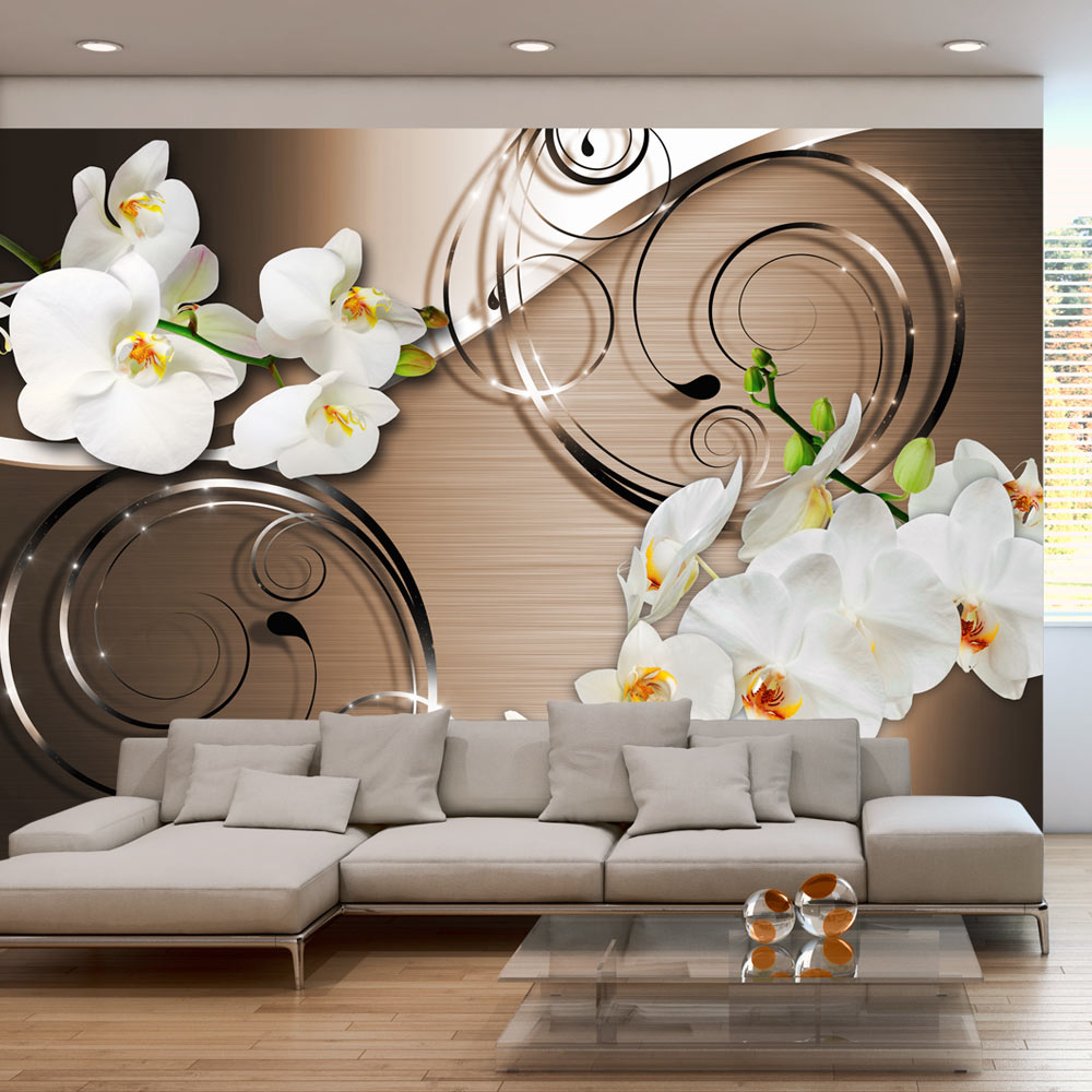 vlies fototapete 3 farben zur auswahl tapeten blumen orchidee b a 0065 a b ebay. Black Bedroom Furniture Sets. Home Design Ideas