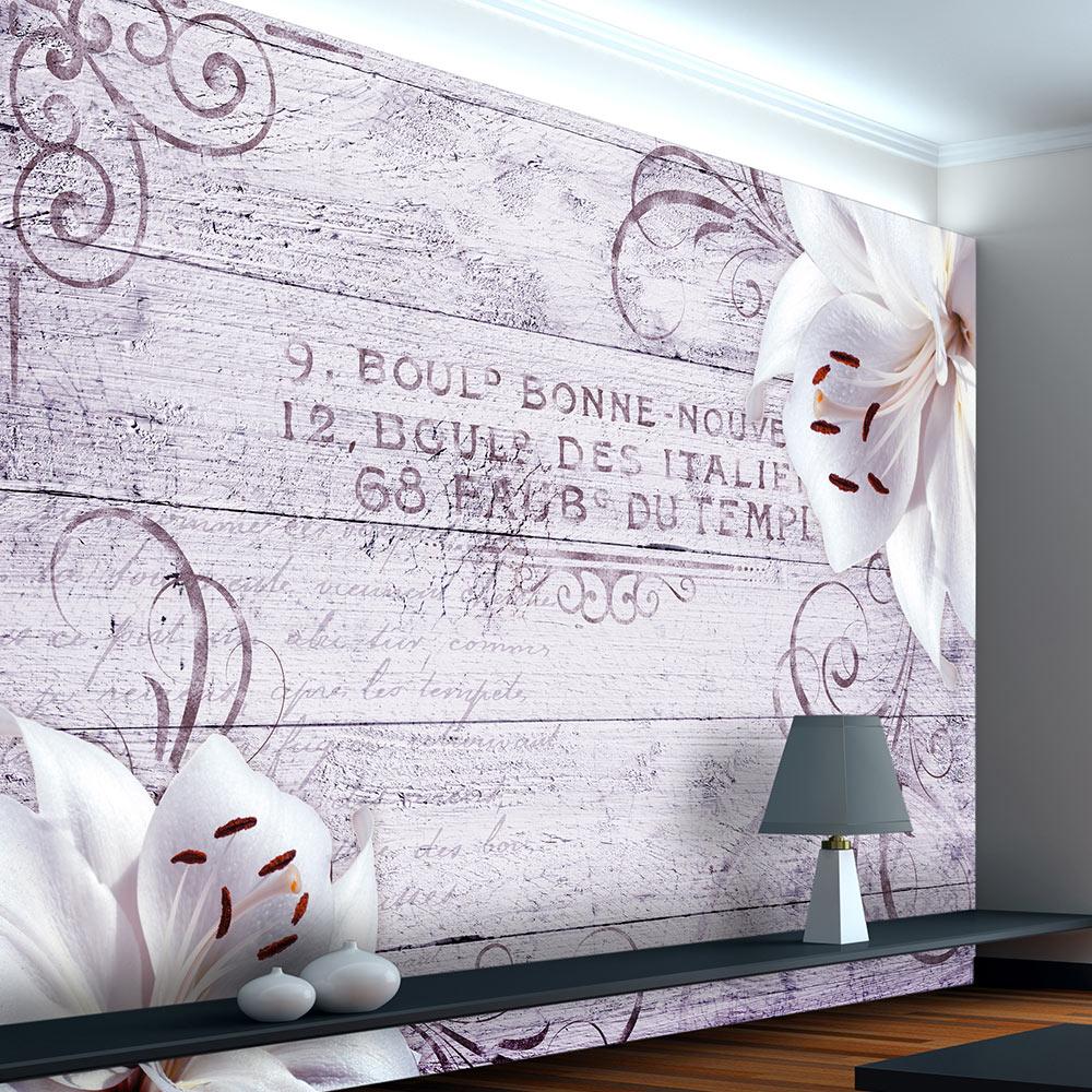 fototapete holzoptik blumen brett vlies tapete wandtapete. Black Bedroom Furniture Sets. Home Design Ideas