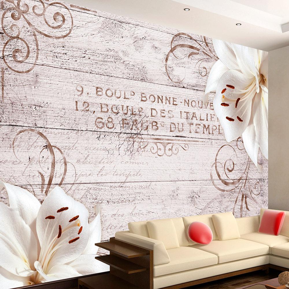 vlies fototapete 3 farben zur auswahl tapeten blumen holz b a 0170 a b ebay. Black Bedroom Furniture Sets. Home Design Ideas