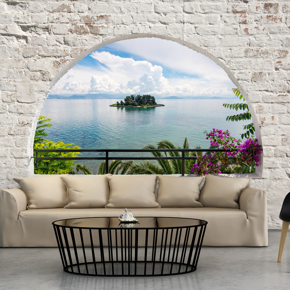 fototapete ausblick landschaft meer vlies tapete xxl wandbilder c a 0051 a b ebay. Black Bedroom Furniture Sets. Home Design Ideas
