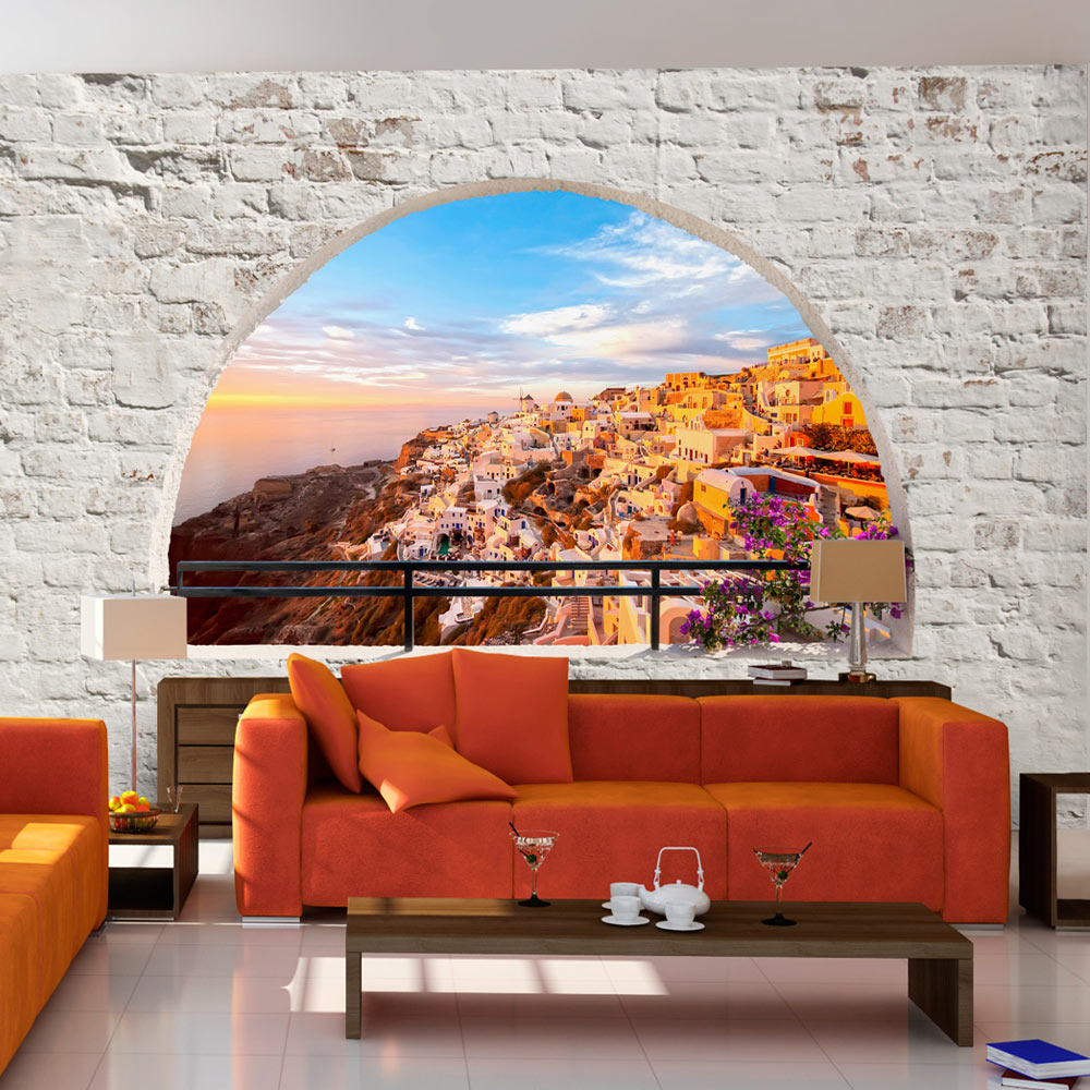 fototapete ausblick landschaft meer vlies tapete xxl. Black Bedroom Furniture Sets. Home Design Ideas