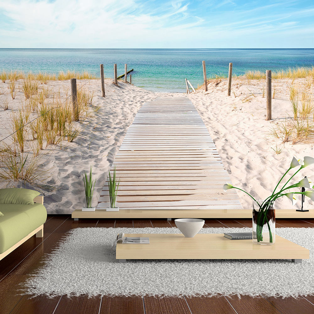 fototapete meer landschaft ausblick vlies tapete wandbild 3 farben c a 0054 a b ebay. Black Bedroom Furniture Sets. Home Design Ideas