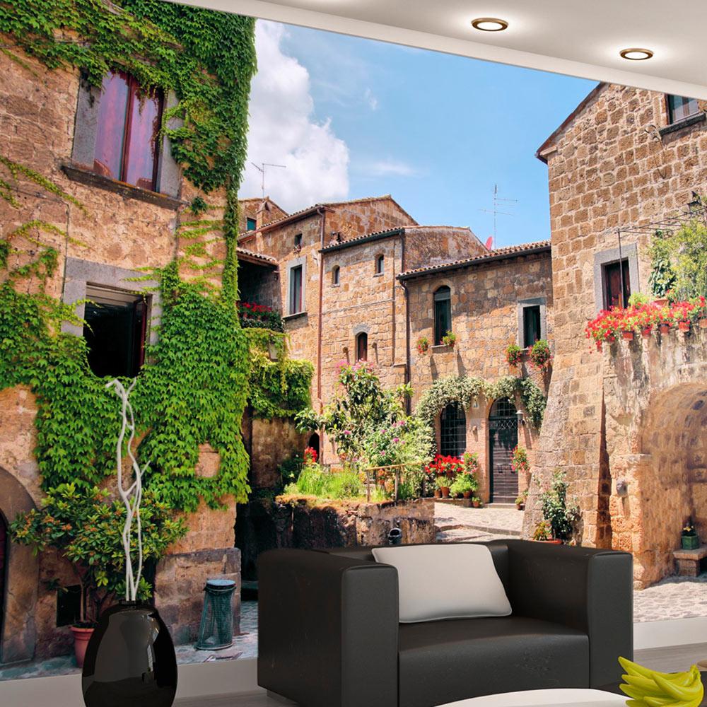 vlies fototapete 3 farben zur auswahl tapeten gasse stadt c a 0063 a b ebay. Black Bedroom Furniture Sets. Home Design Ideas