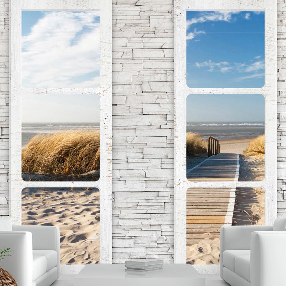 fototapete new york city fensterblick stadt vlies tapete wandbilder c a 0066 a b ebay. Black Bedroom Furniture Sets. Home Design Ideas