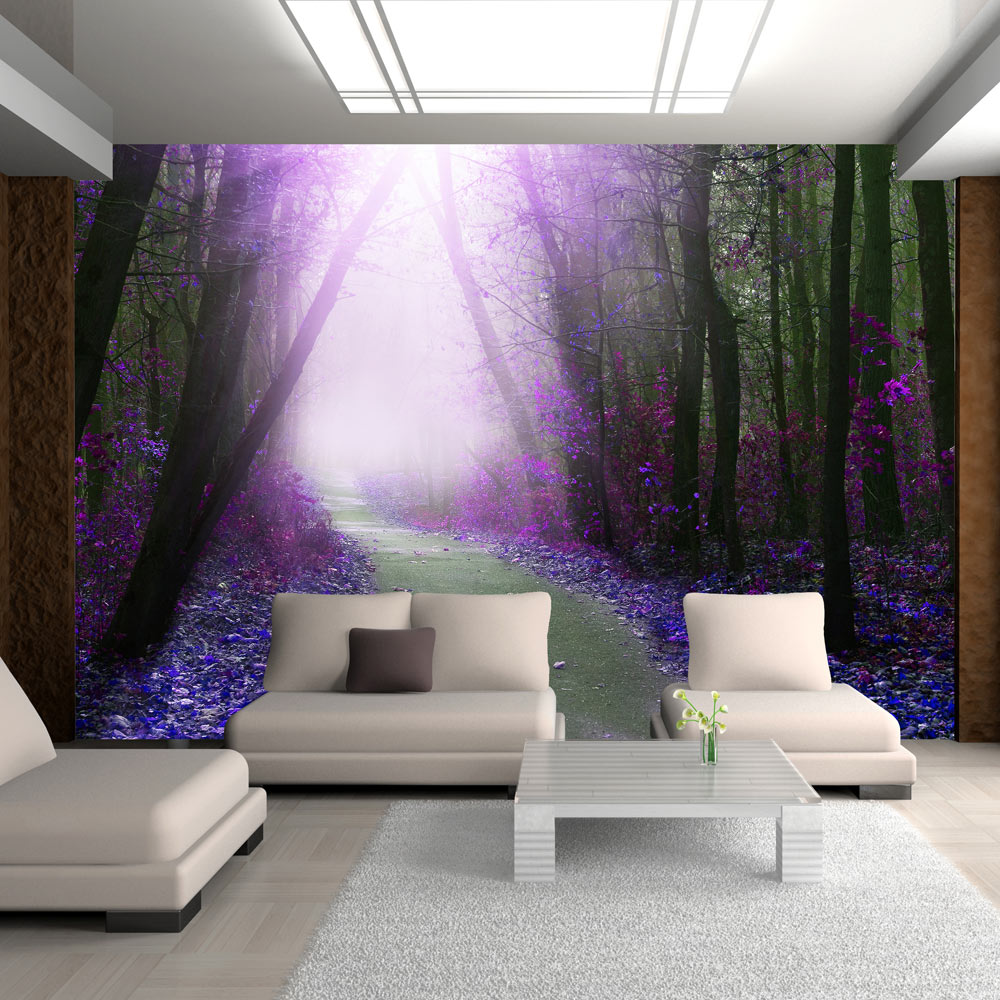 vlies fototapete 3 farben zur auswahl tapeten wald weg. Black Bedroom Furniture Sets. Home Design Ideas