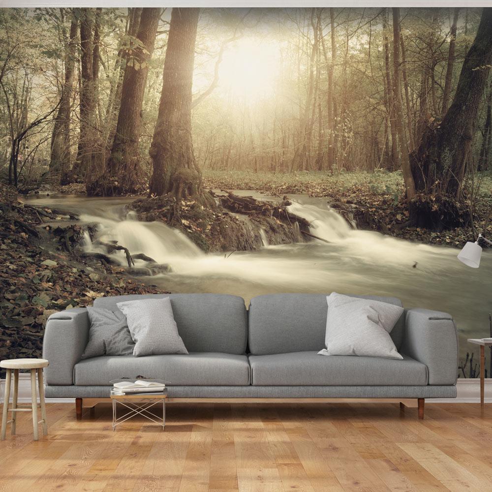 vlies fototapete 3 farben zur auswahl tapeten wald natur c b 0089 a b ebay. Black Bedroom Furniture Sets. Home Design Ideas