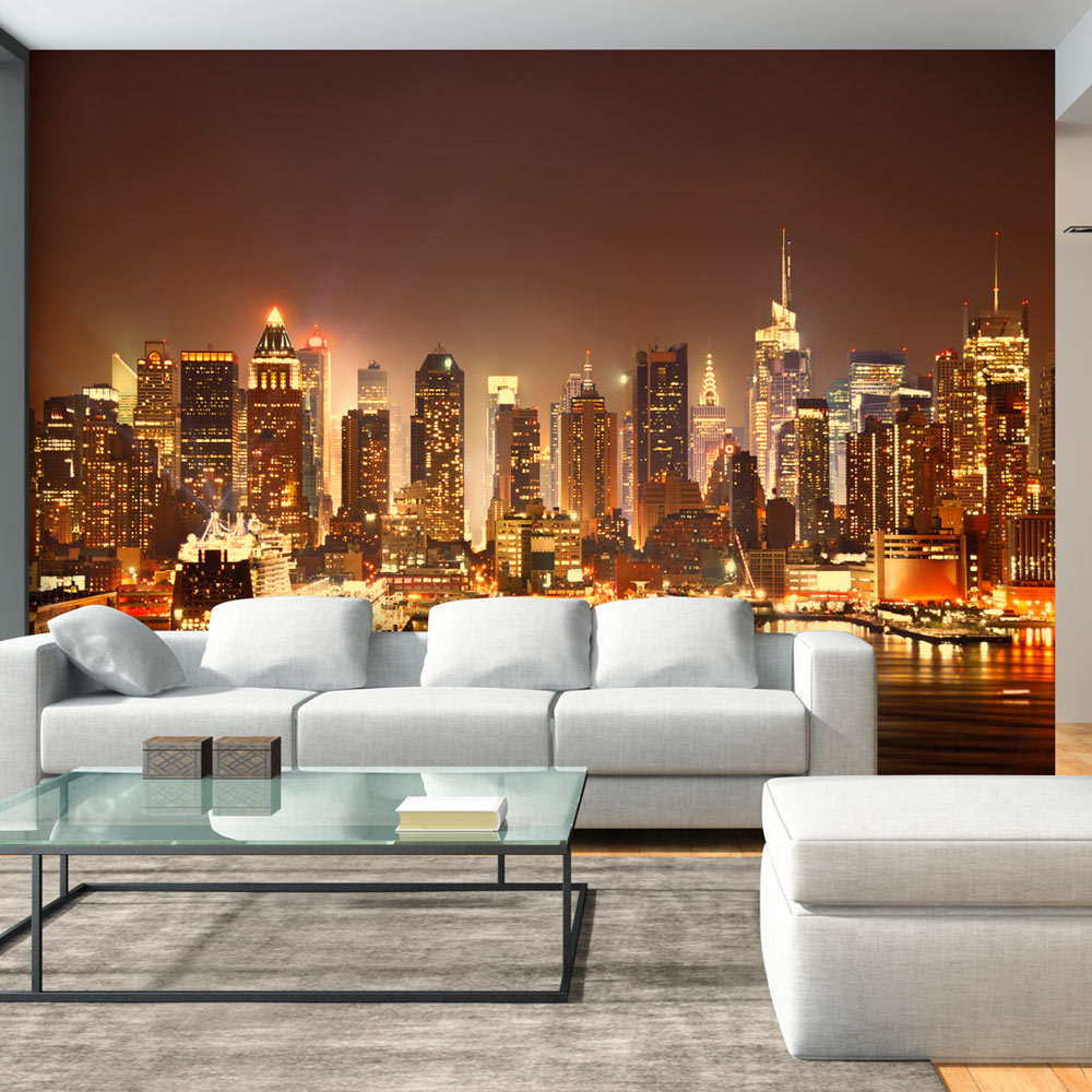 fototapete new york skyline vlies tapete stadt wandbilder. Black Bedroom Furniture Sets. Home Design Ideas