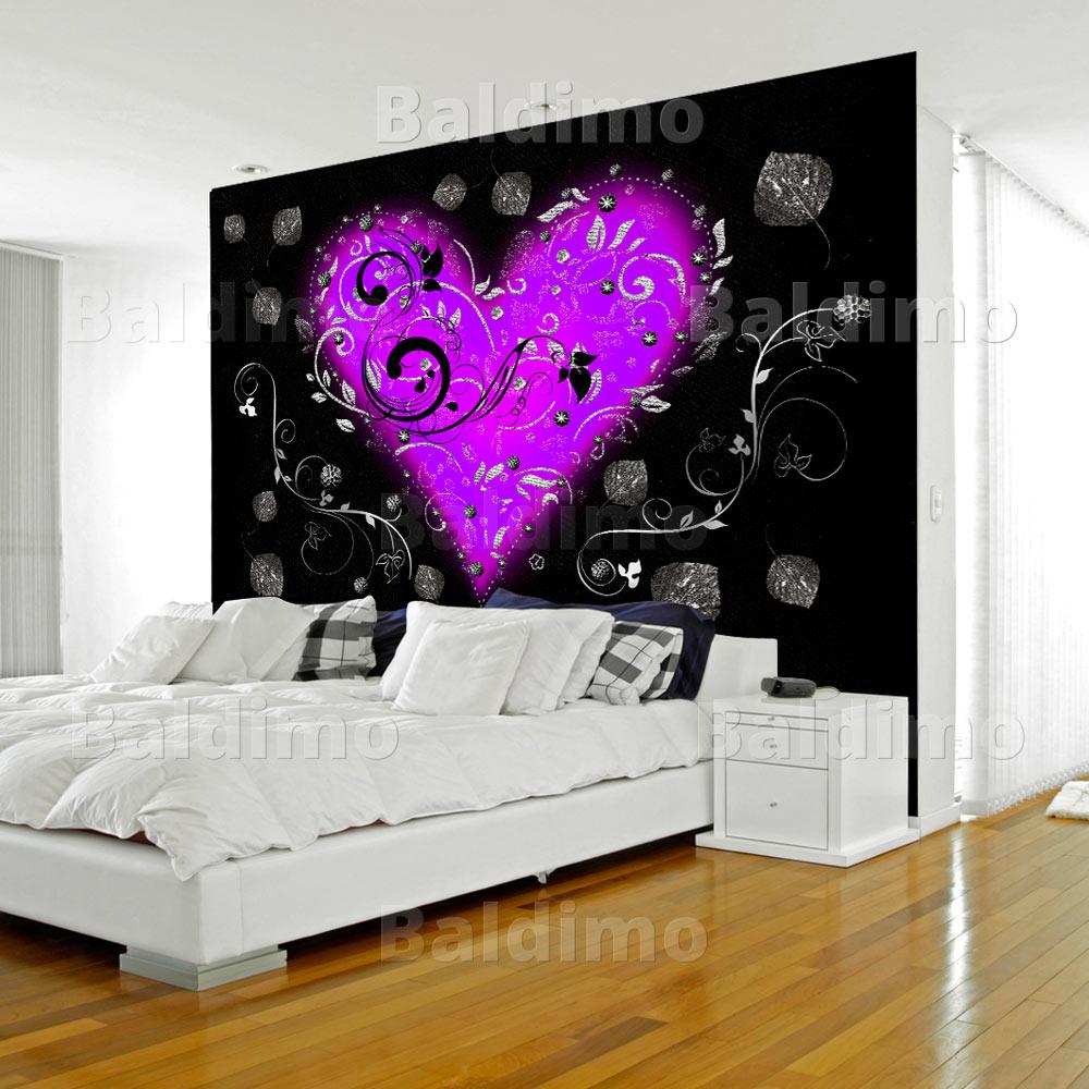 vlies fototapete 3 farben zur auswahl tapeten herz liebe love f a 0067 a b ebay. Black Bedroom Furniture Sets. Home Design Ideas