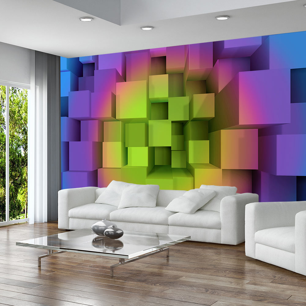 fototapete 3d optik perspektive vlies tapete wandtapete 3 farben, Wohnideen design