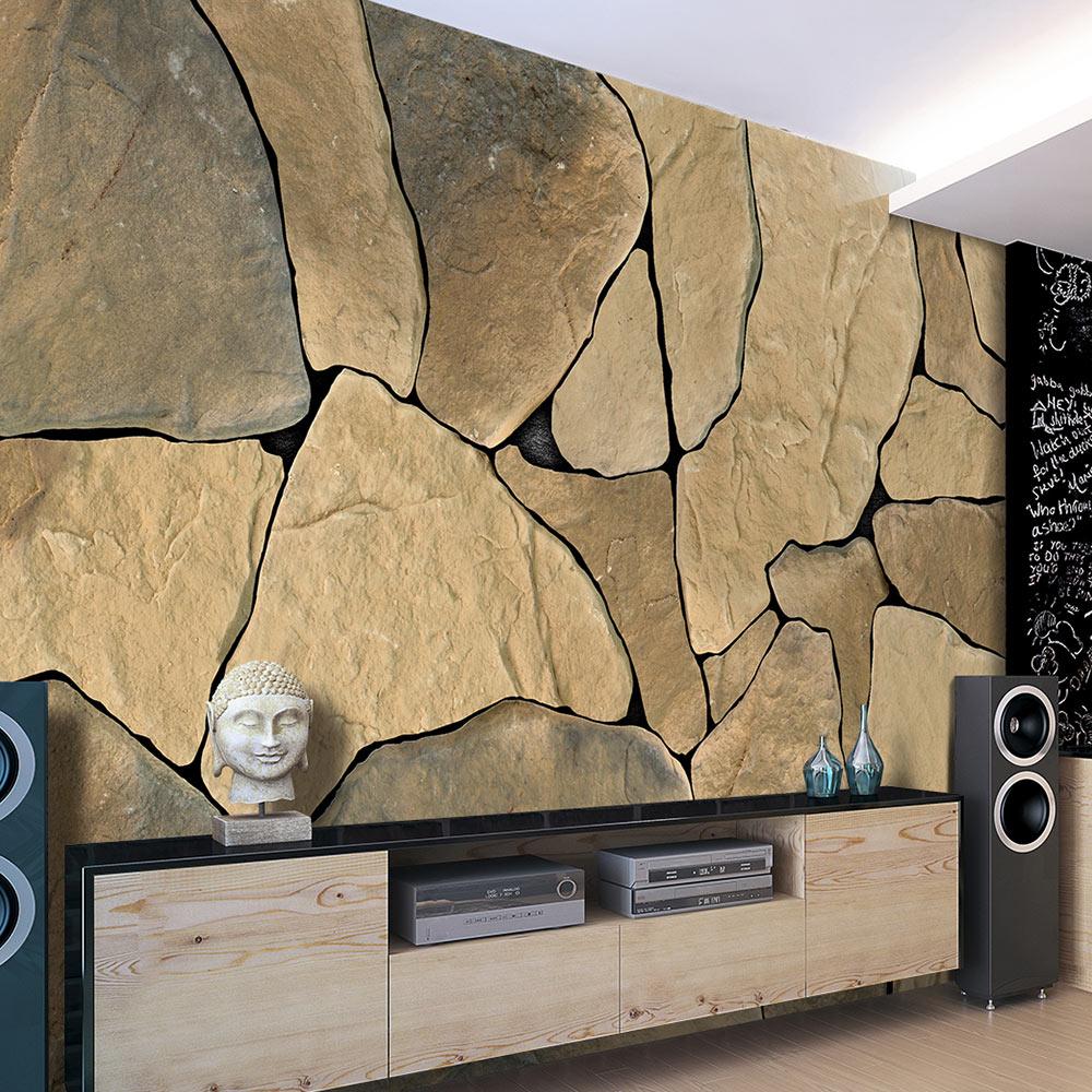 fototapete stein optik steinwand vlies tapete wandtapete 3 farben f a 0279 a b ebay. Black Bedroom Furniture Sets. Home Design Ideas
