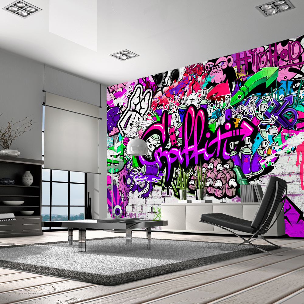 fototapete graffiti vlies tapete kinderzimmer wandbild xxl 3 farben f a 0348 a b. Black Bedroom Furniture Sets. Home Design Ideas