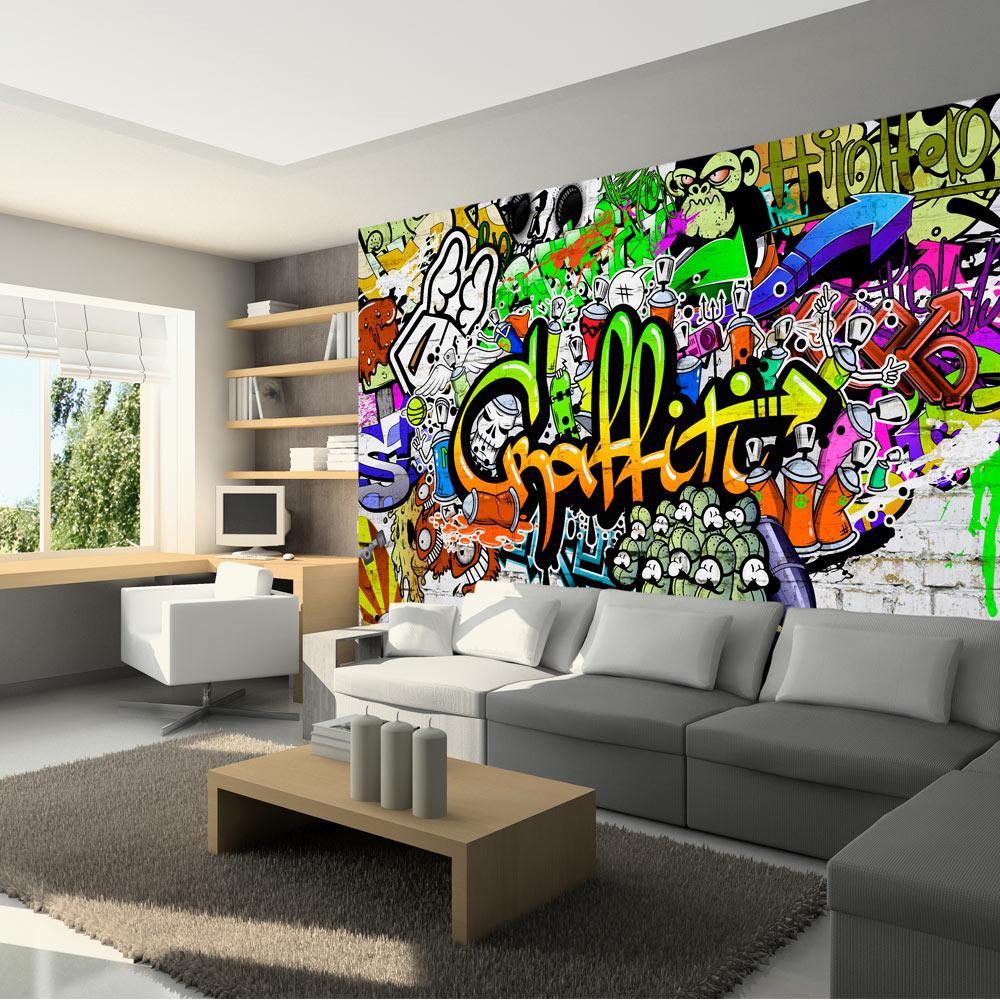 vlies fototapete 3 farben zur auswahl tapeten graffiti - Tapeten Und Farben
