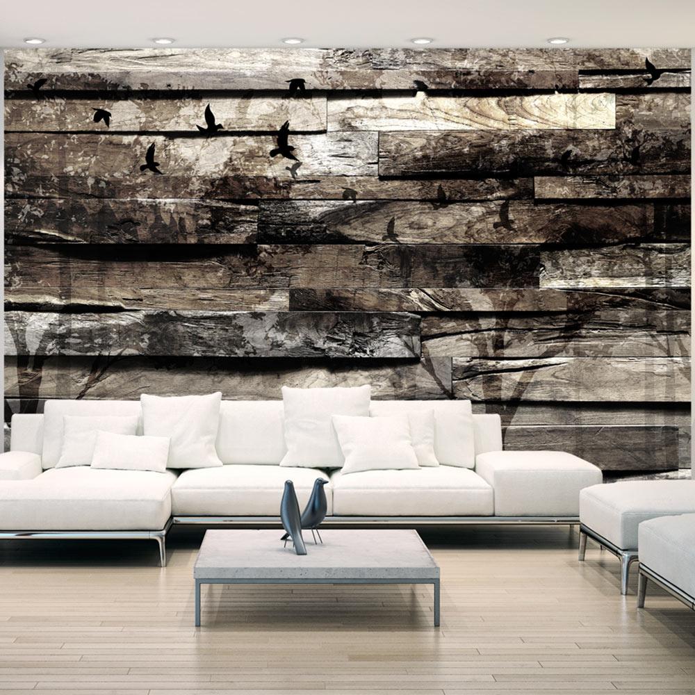 fototapete holzoptik holz bretter b ume vlies tapete xxl. Black Bedroom Furniture Sets. Home Design Ideas