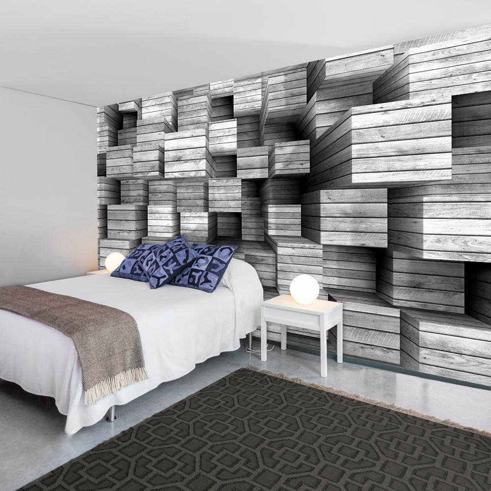 vlies fototapete 3 farben zur auswahl tapeten holz 3d optik f a 0456 a b ebay. Black Bedroom Furniture Sets. Home Design Ideas