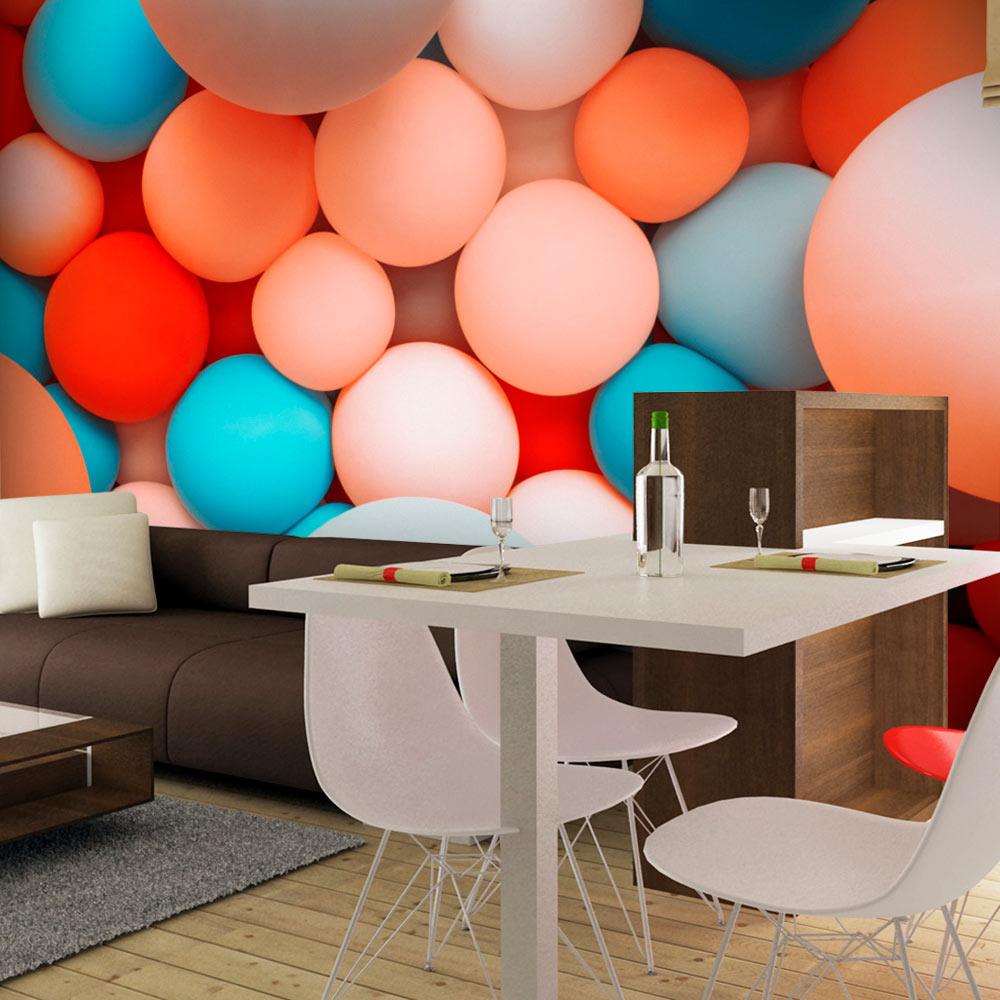 vlies fototapete 3 farben zur auswahl tapeten bunte kugeln f c 0069 a b ebay. Black Bedroom Furniture Sets. Home Design Ideas