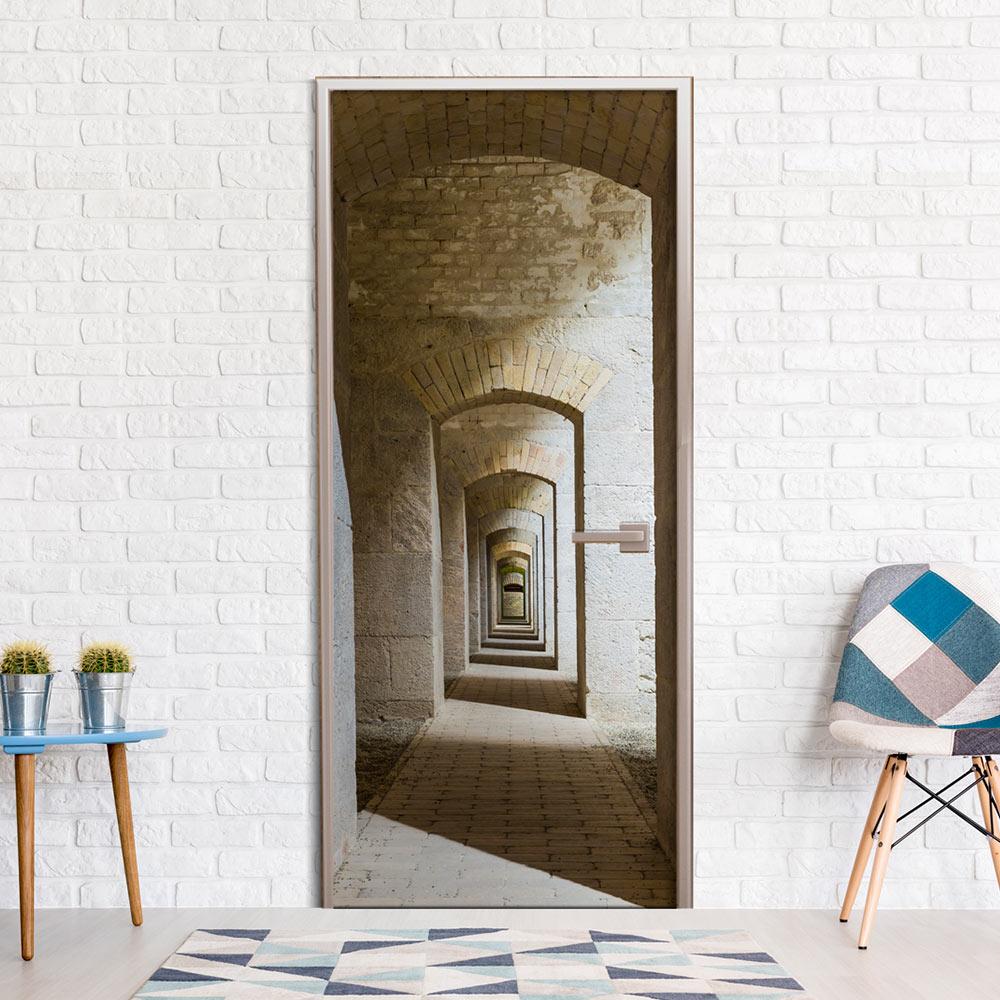 Door wallpaper mural wallpaper door poster door sticker for Door wallpaper mural