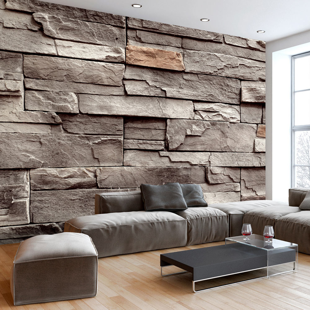 fototapete stein optik 3 farben vlies tapete steinwand. Black Bedroom Furniture Sets. Home Design Ideas