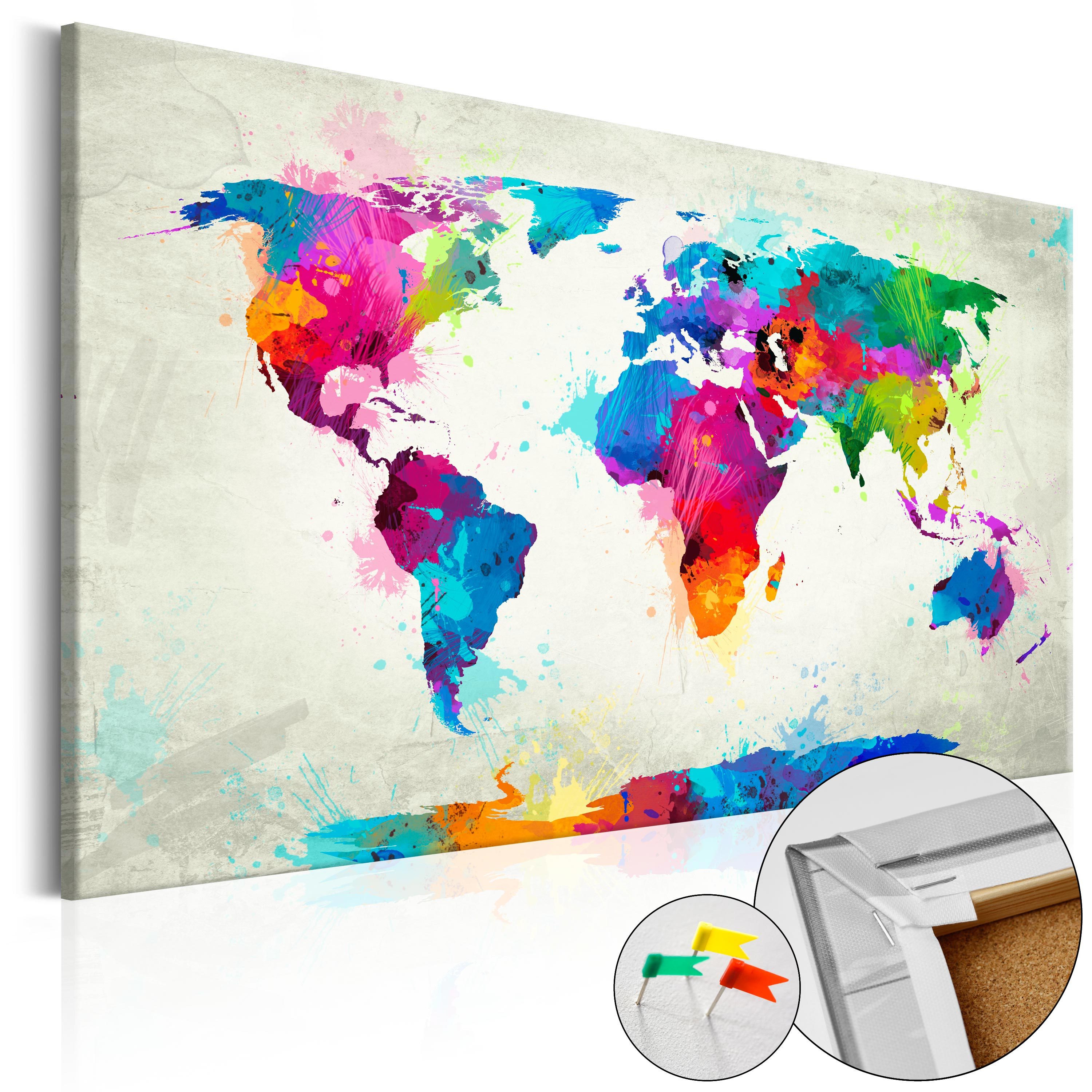 Pinboard image printed on canvas with cork backing pin board map pinboard image printed on canvas with cork backing gumiabroncs Gallery