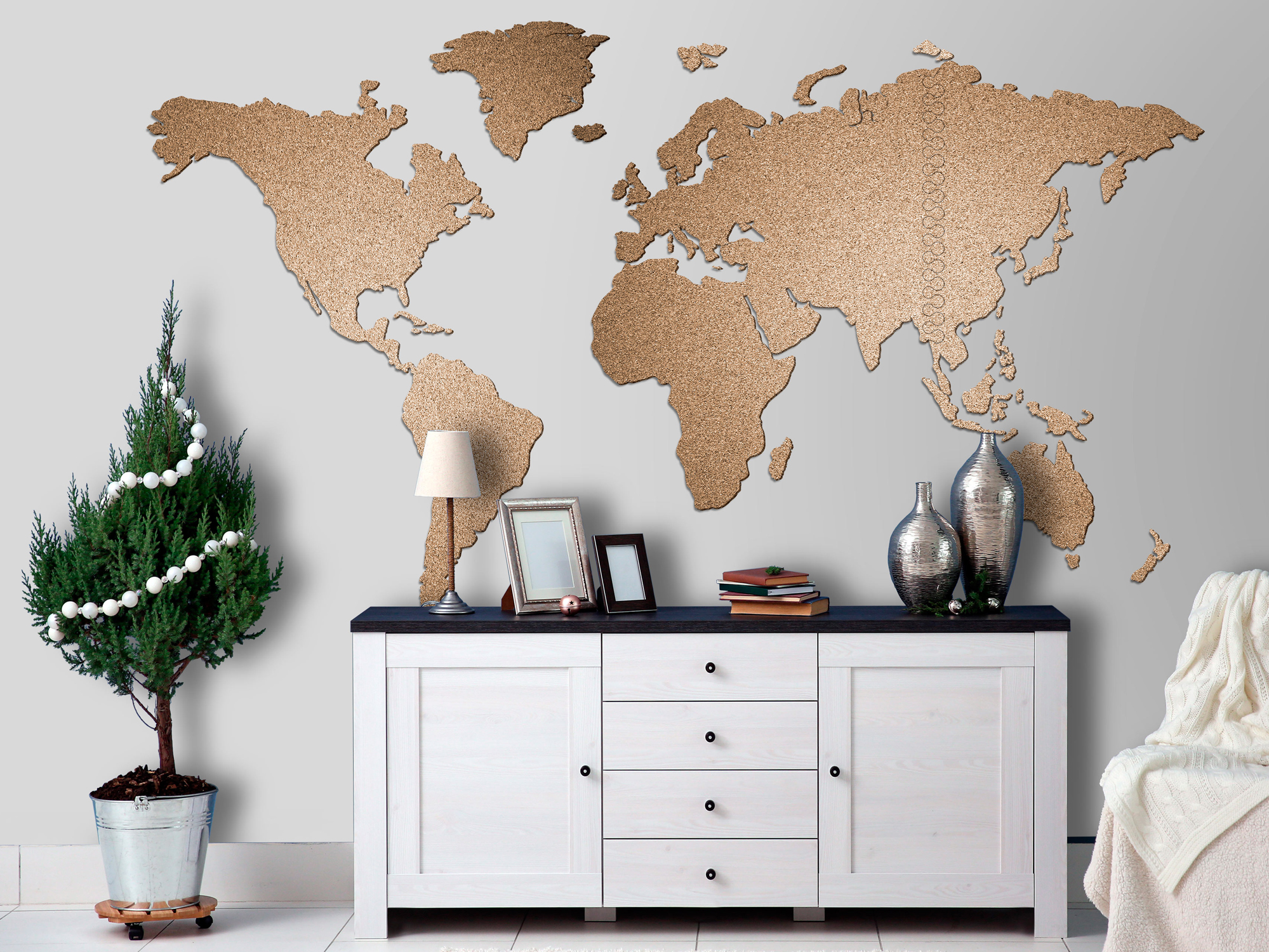 weltkarte pinnwand kork landkarte korktafel xxl memoboard selbstklebend korkwand ebay. Black Bedroom Furniture Sets. Home Design Ideas
