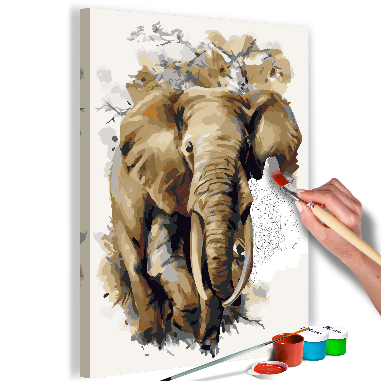 Malen nach Zahlen Erwachsene Wandbild Malset mit Pinsel Malvorlagen ...