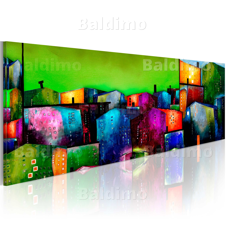 wandbilder xxl abstrakt h user wie gemalt leinwand bilder. Black Bedroom Furniture Sets. Home Design Ideas