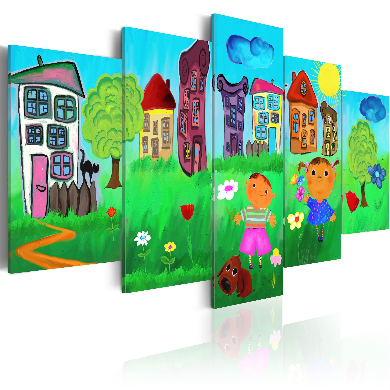 Leinwand bilder xxl kunstdruck bild kinder kinderzimmer - Kunstdruck kinderzimmer ...
