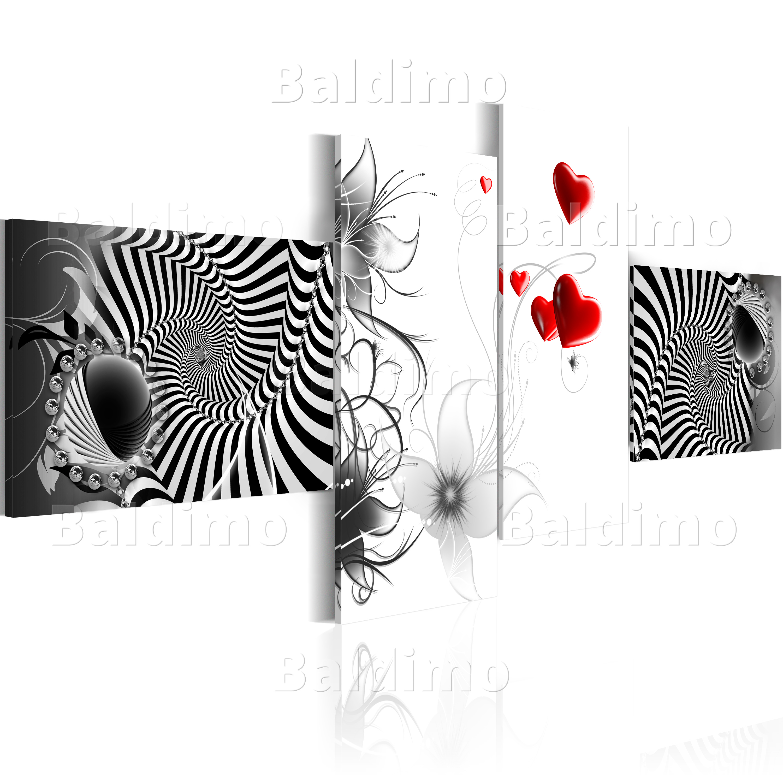 wandbilder xxl abstrakt illusion leinwand bilder 4 teilig wohnzimmer 020101 127 ebay. Black Bedroom Furniture Sets. Home Design Ideas