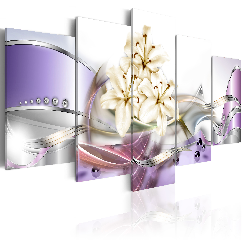 leinwand bilder xxl kunstdruck bild blumen abstrakt digital lilien 020101 163 ebay. Black Bedroom Furniture Sets. Home Design Ideas