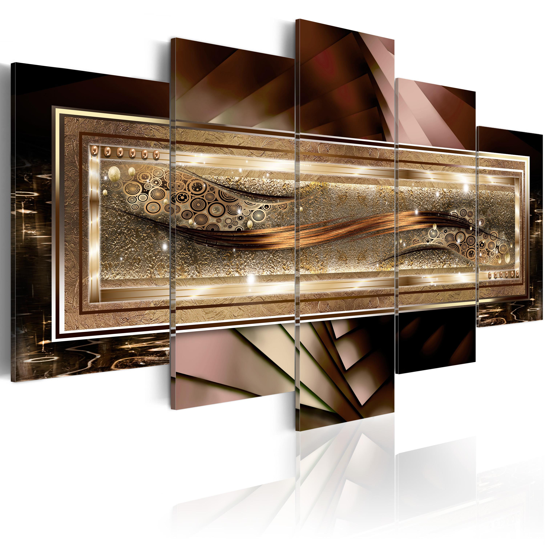 leinwand bilder xxl fertig aufgespannt bild abstrakt braun gold 020101 239 ebay. Black Bedroom Furniture Sets. Home Design Ideas