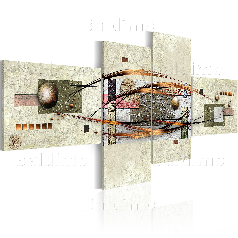 Wandbilder xxl abstrakt leinwand bilder 4 teilig - Tableau couleur chaude ...